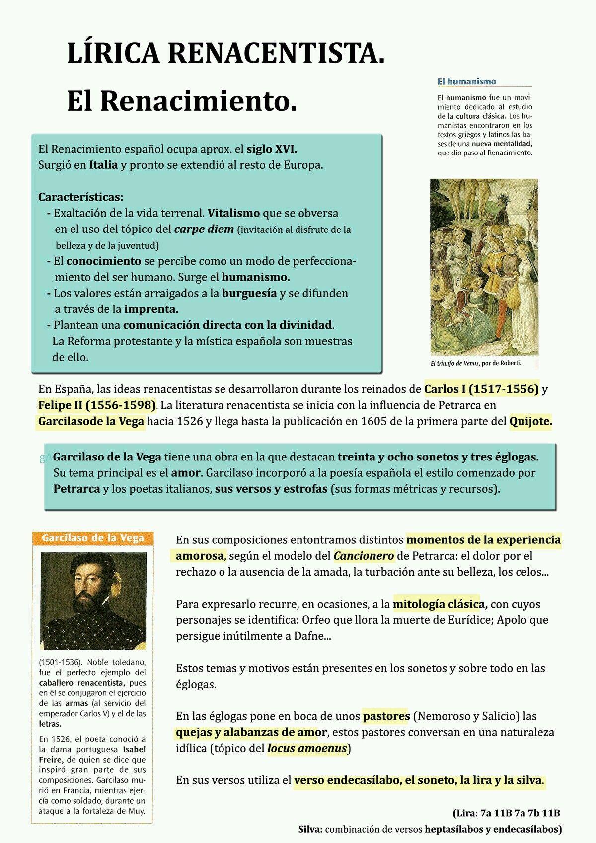 Pin De Michelle En Lectura Literatura Española Renacimiento Literatura Historia De La Literatura