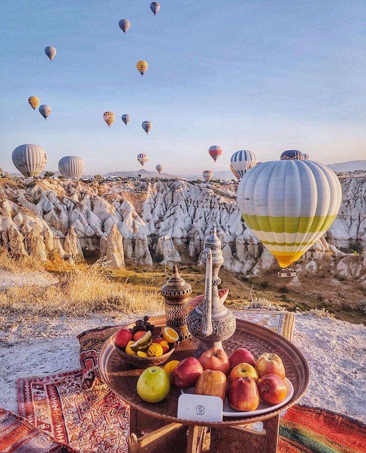"National Destinations Hotels on Instagram: ""Historic Cappadocia and hot balloo…"
