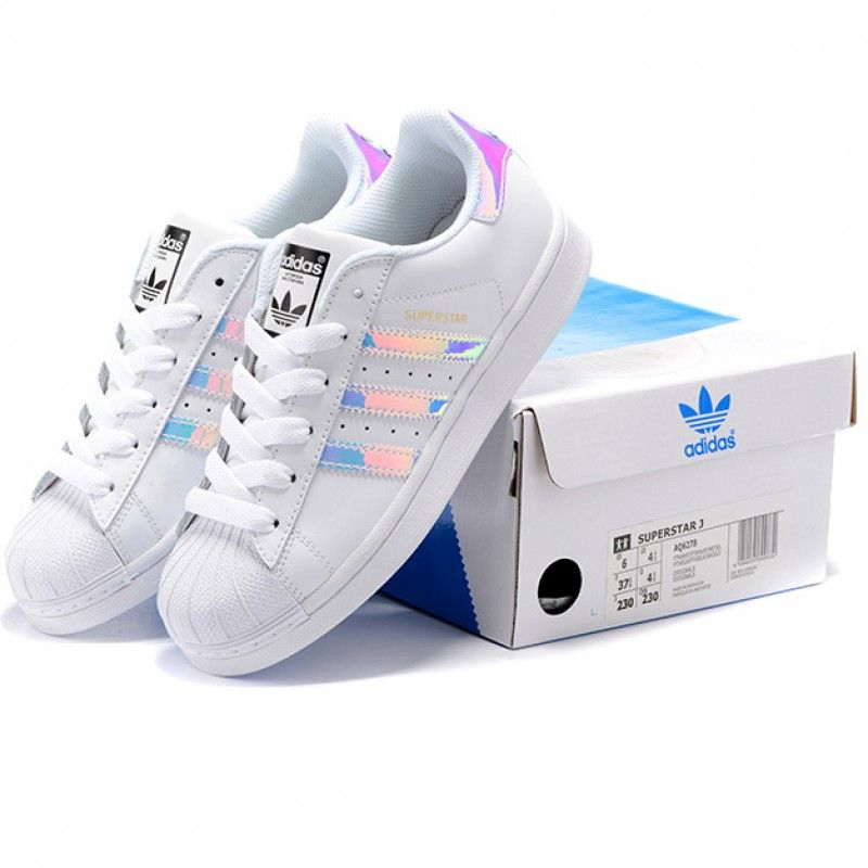 Adidas Superstar Casual Shoes Laser Symphony white