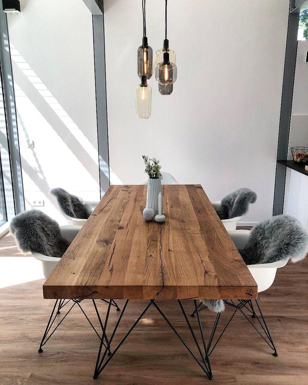 Massivholztisch Esstisch Eichenholz Altholz | Holzwerk