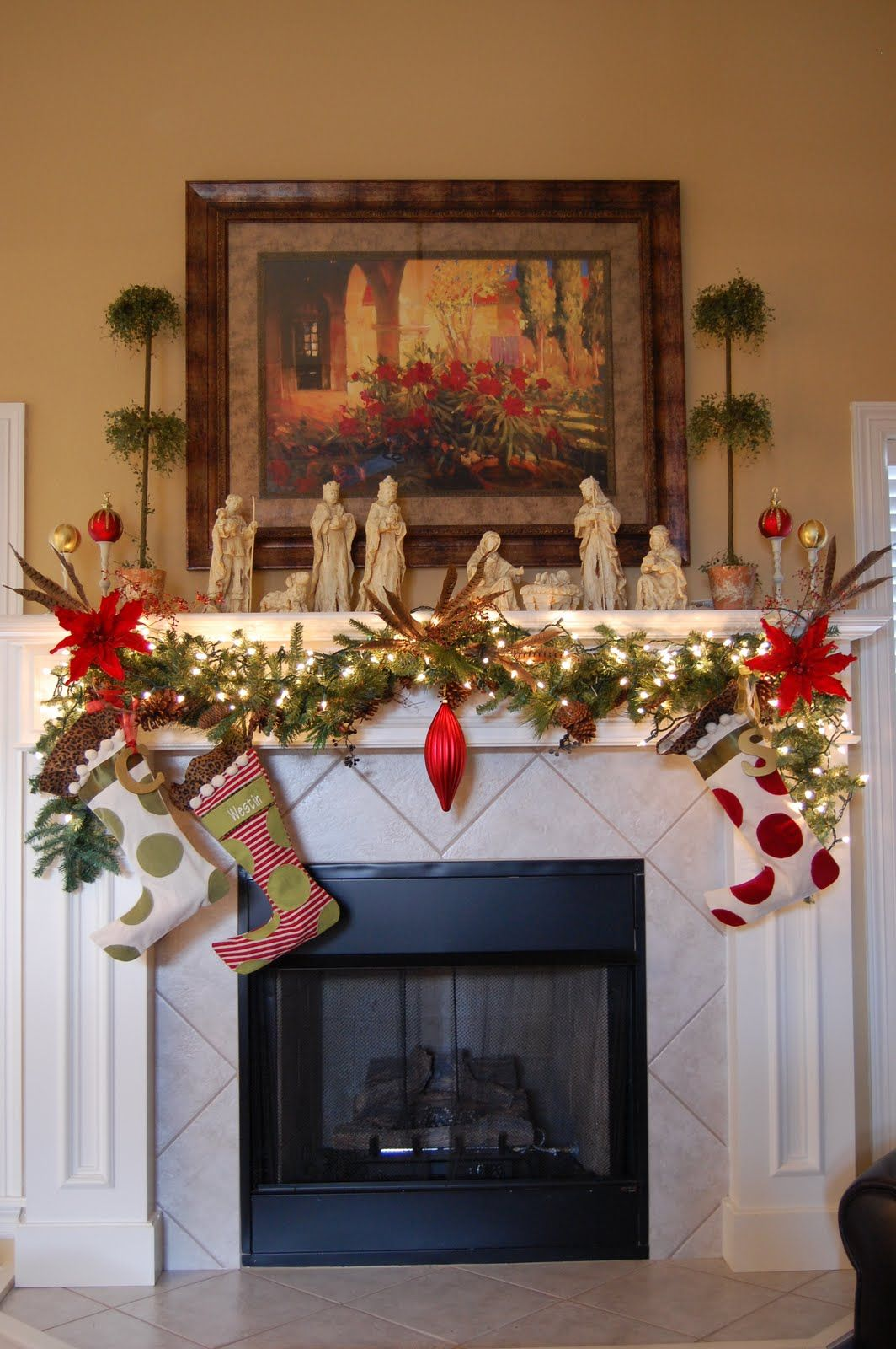 Christmas Mantel Decorating Ideas 1 30 Astonishing