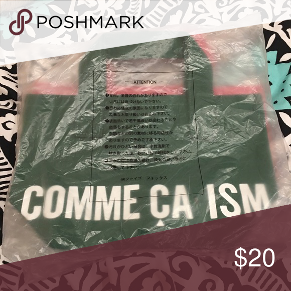 0dadb649cbd51 Comme Ca Ism Japanese Tote Bag (green) This is the same model as the other  tote bag