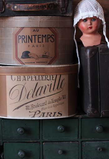 hat boxes from Paris