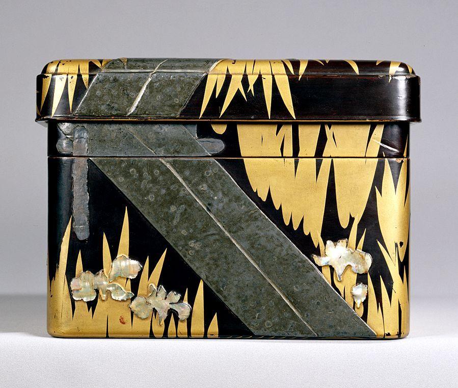 Writing Box. Design Of Yatsu-hashi Bridge. By Ogata Korin