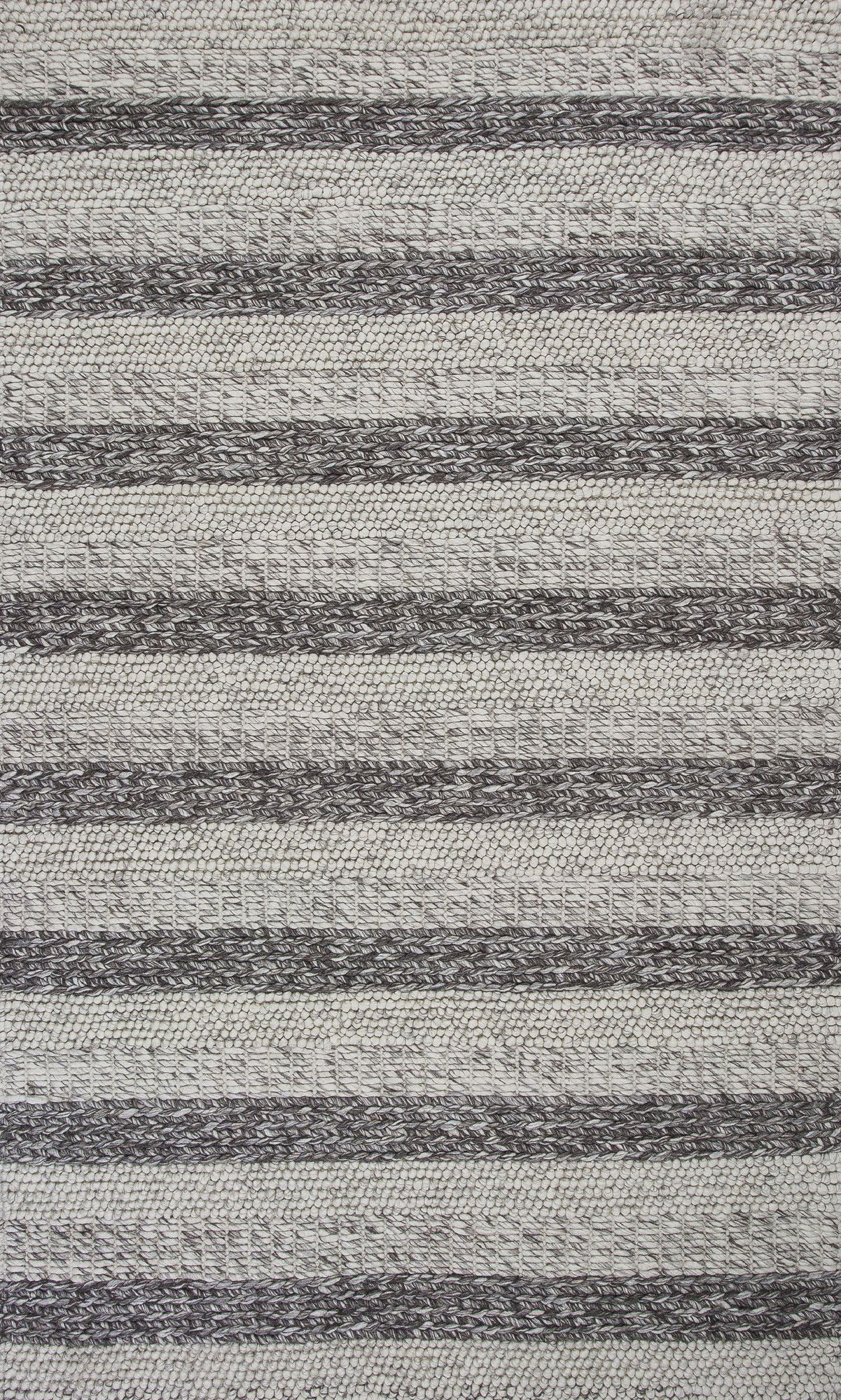 Luckey Hand-Woven Gray/White Area Rug