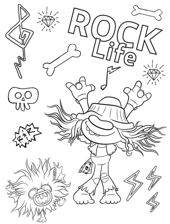 Free Printable Trolls World Tour Party Pack With Activity Coloring Pages Coloring Books Coloring Pages Poppy Coloring Page