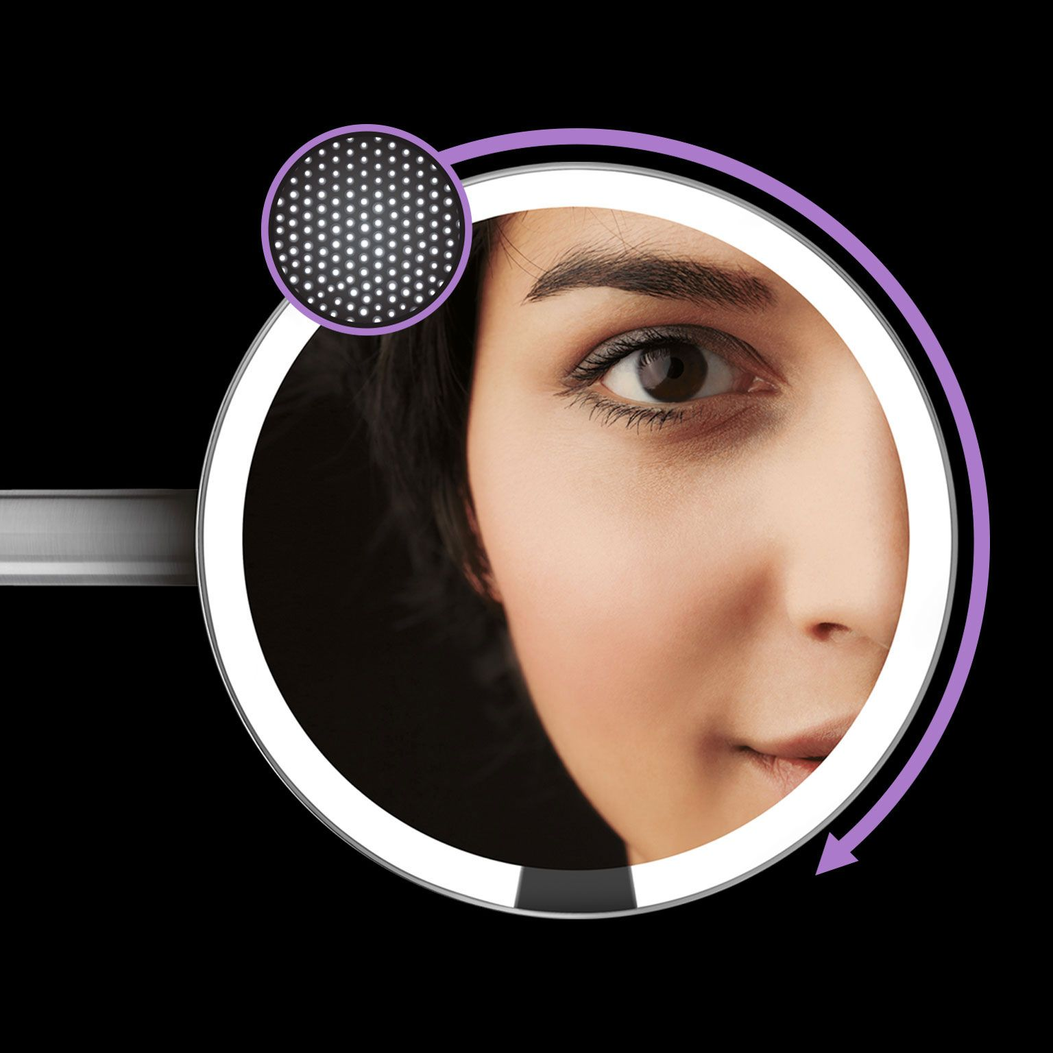 Sensor mirror 8'' wall mount 5x magnification Makeup