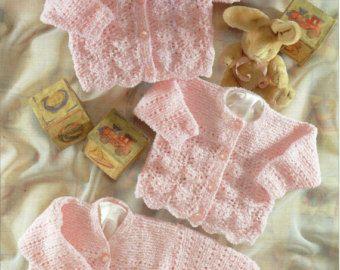 e550da030 Baby cardigans Blanket hat Baby Knitting Pattern PDF Download Baby ...