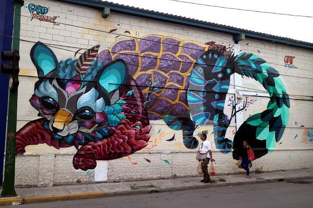 "Farid Rueda unveils ""Cacomixtle"", his newest mural in Monterrey, Mexico #poppingupdoc #popsurrealism #pop #popart #streetart #Graffiti #artederua #art #artwork #contemporaryart #modernart #realcreativeart #watercolor #urbanart #cores #colores #colors #sprayart #intervention #urbanintervention #graffitiwall #kunst #photooftheday #street #graffitiart #lowbrow #lowbrowart #imaginativestreetart #streetart #art #murals"