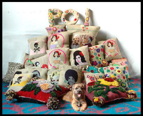 Po! Paris embroided cushions