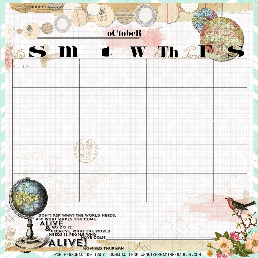 Free Printable Perpetual Calendar Planner Vintage Style