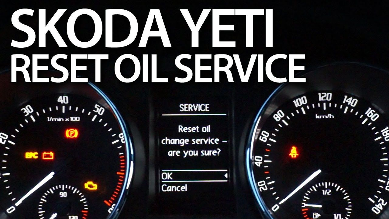 How To Reset Oil Change Service Reminder In Skoda Yeti Cars Maintenance