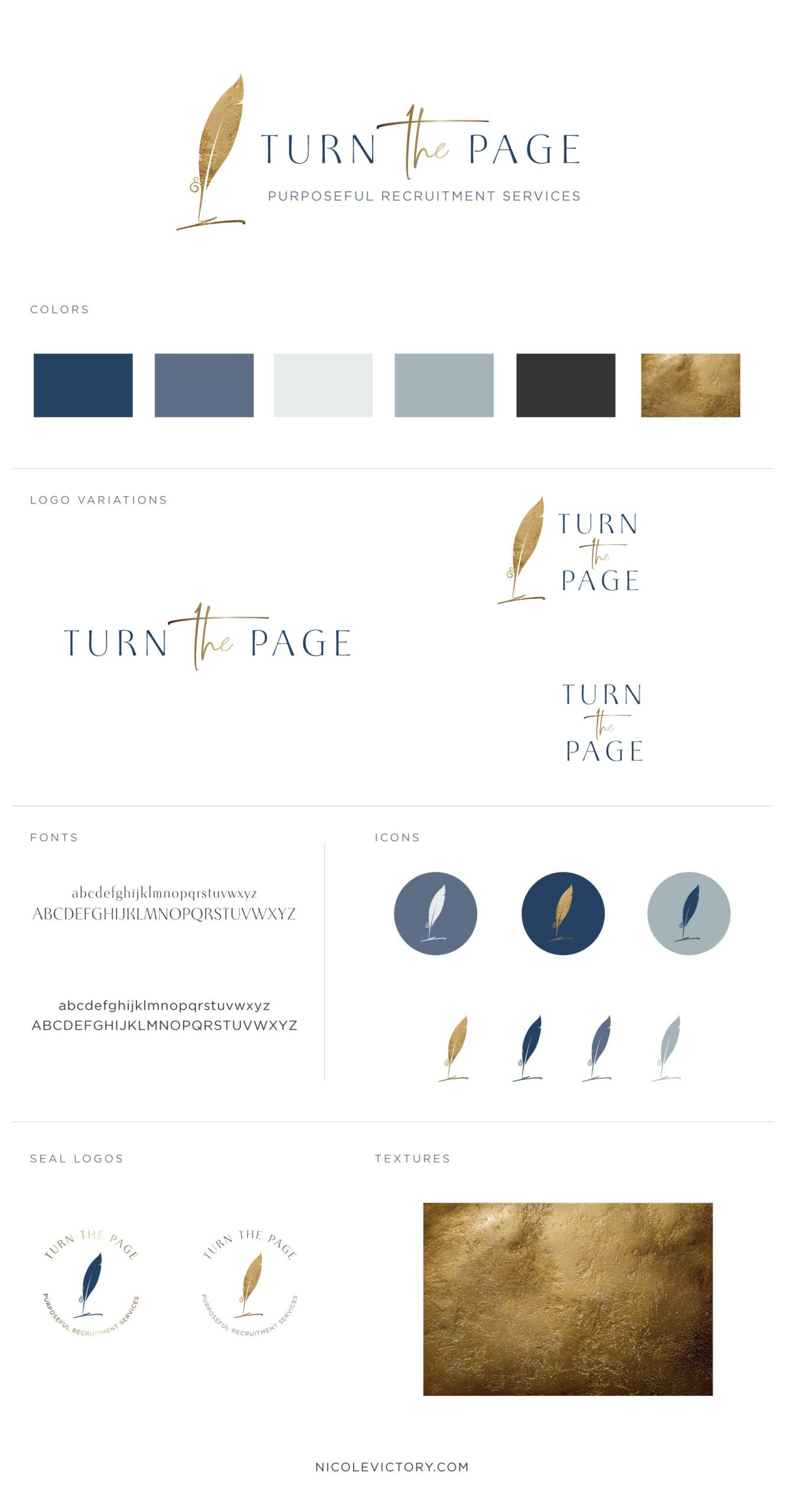 Turn The Page Careers Custom Logo Design Style Guides Logo Design Inspiration