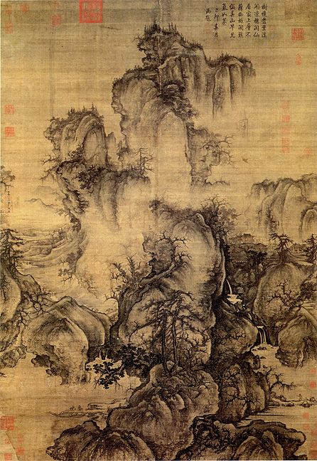 Early spring scene peinture chinoise art chinois et peinture paysage - Dessin arbre chinois ...