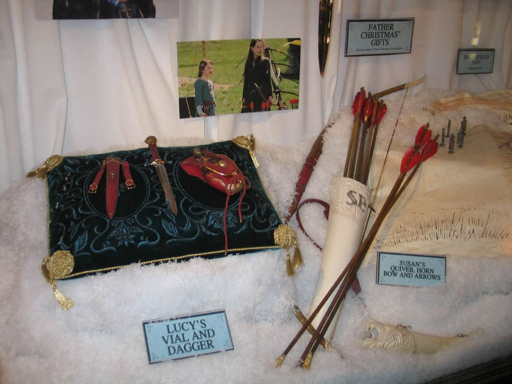 Susan and Lucy's gifts on display at the El Capitan
