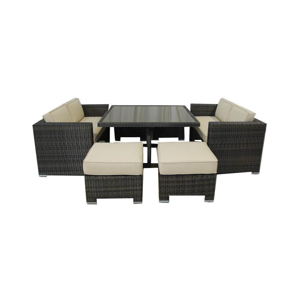 Kontiki Dining Sets   Wicker Small (Ideal For 4 Seats)   Handmade From 100