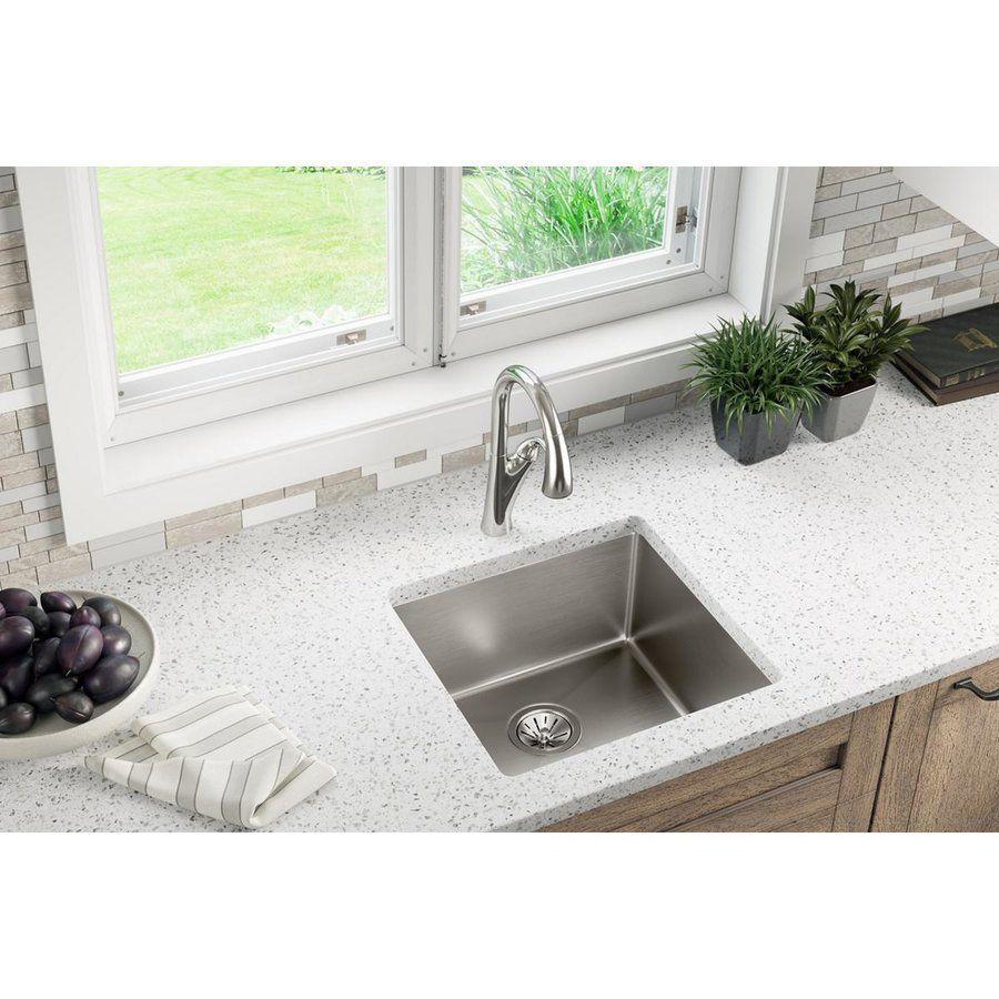 Elkay Crosstown 19 Single Bowl Undermount Sink Polished