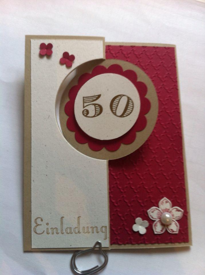 Einladung 50. Geburtstag, Stampin Up