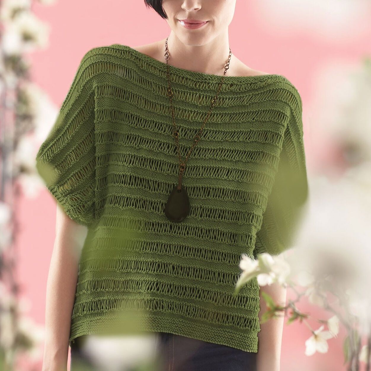 Patons Drop Stitch Top, XS Pattern | Yarnspirations in ...