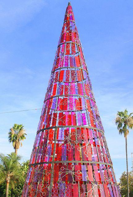 Christmas in Plaza de la Marina, Málaga, Spain