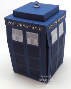 Stampin' Up! Stamping T! - Dr Who Tardis Back - exploding box card
