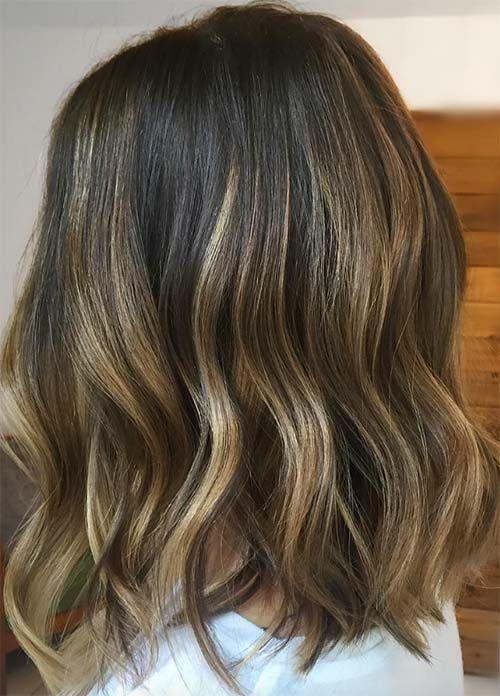 Trending Styles Of Dark Hair With Blonde Highlights Winter Hair