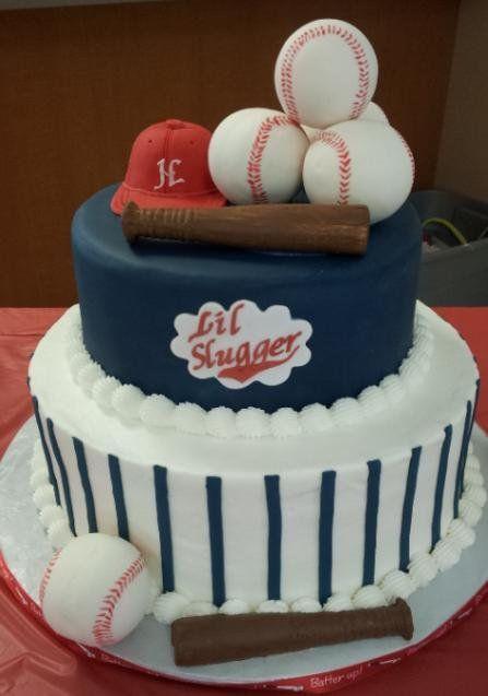 The cutest birthday cake ever Baseball Cakes Pinterest