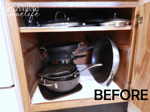 diy knock off organization for pots pans how to organize your kitchen frugally day 26 home on kitchen organization pots and pans id=36282