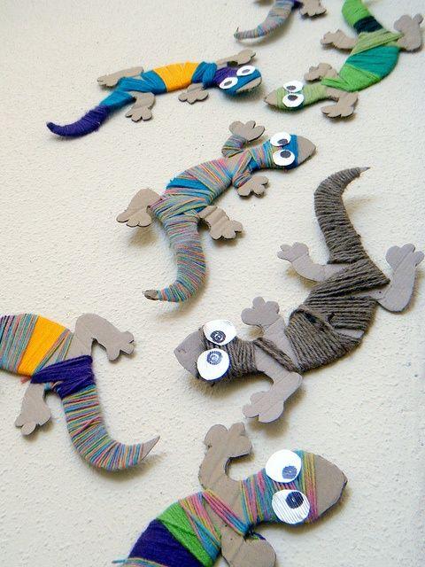 -- lizards w/ string
