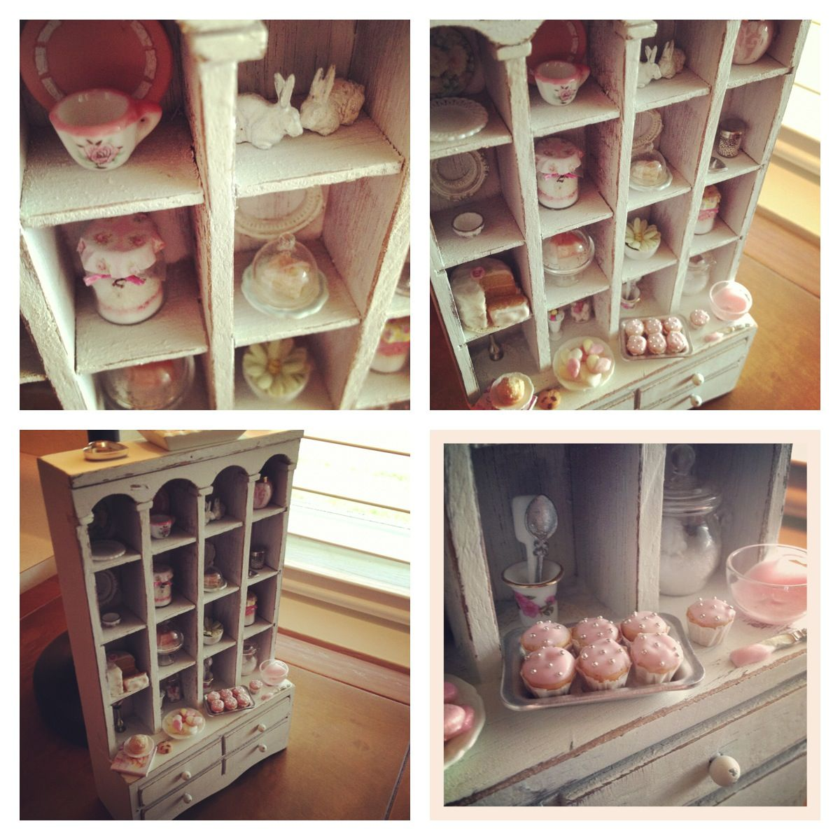 Shabby chic baking shelf 1:12 Dollhouse miniatures <3
