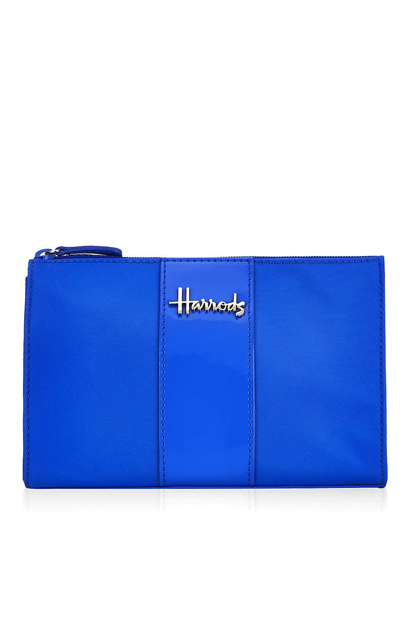 Harrods Royal Blue Pouch - MarkaVIP