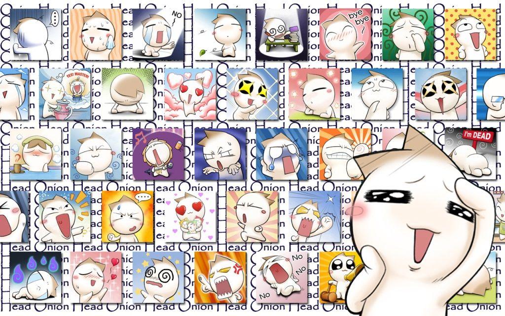Onion Head es un personaje muy popular de una serie de mangas japoneses. Se trata de una pequeña cebolla muy graciosa y divertida de la cual existen cantid