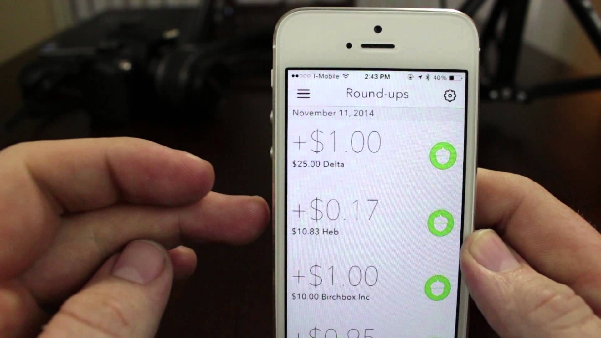 Acorns is an investment serviceapp that rounds your debit