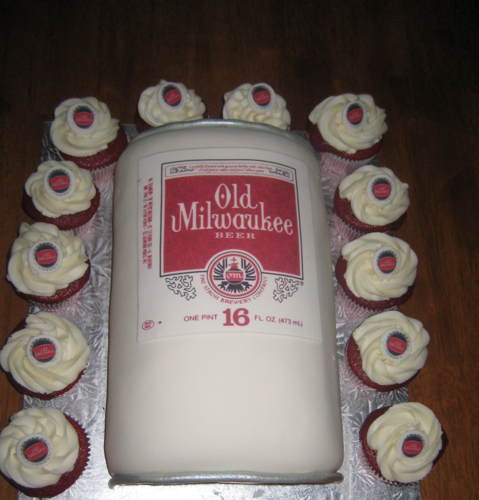 Strange Old Milwaukee Beer Can Cake Beer Can Cakes Beer Cake Birthday Funny Birthday Cards Online Sheoxdamsfinfo