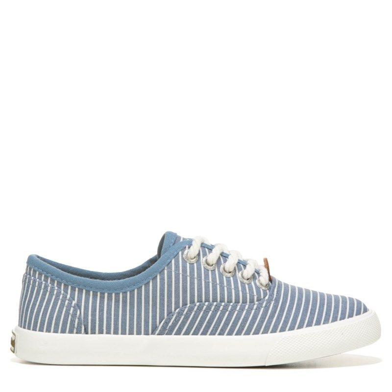 Margaritaville Women's Dream Catcher Canvas Sneakers (Navy/White Stripe)