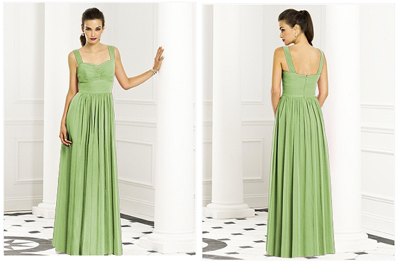 Mismatched Green Bridesmaid Dresses http://www.thebridelink.com ...