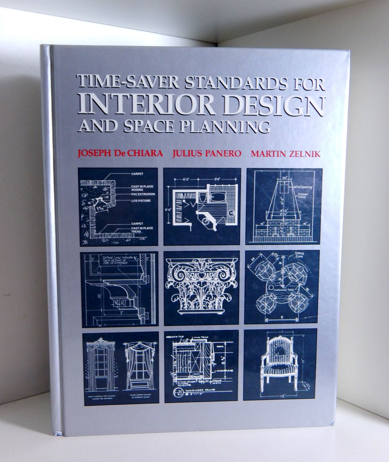 Vintage Book Text Book Time Saver Standards for Interior Design and