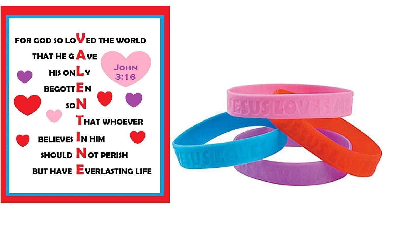 John 3 16 Valentine Exchange Cards For Kids With Bracelets