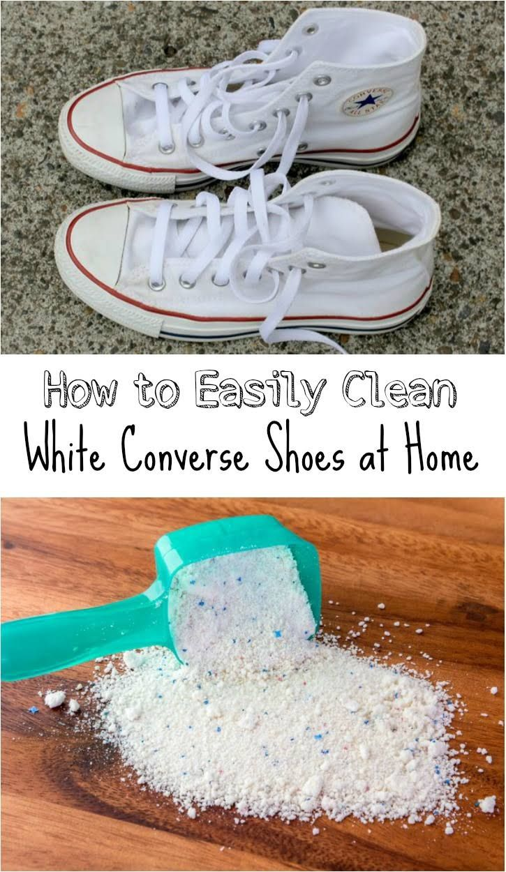 af6c8434b4d9 How to Easily Clean White Converse Shoes at Home Cleaning Converse