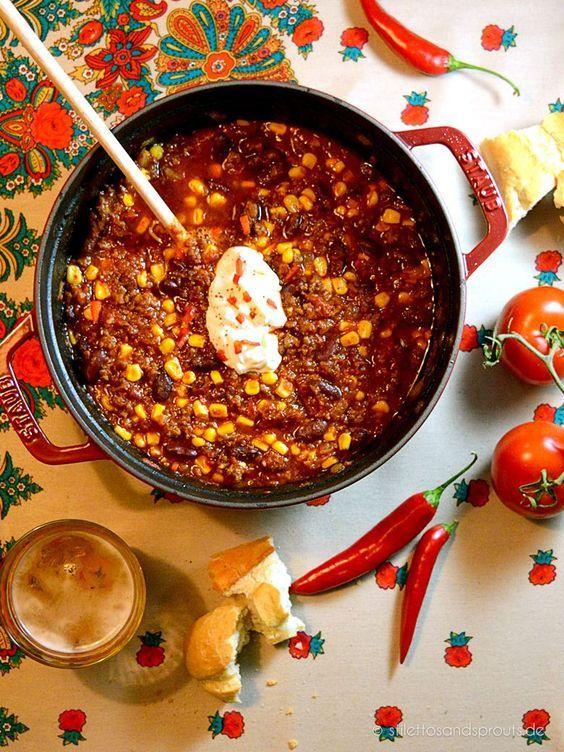 Chili con Carne nach Jamie Oliver | warme Küche, Leckere rezepte und ...