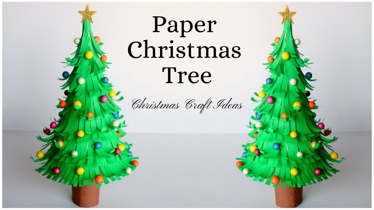 How To Make Paper Christmas Tree Paper Craft Ideas For Christmas Decorations Youtu Christmas Tree Paper Craft Paper Christmas Tree Diy Paper Christmas Tree