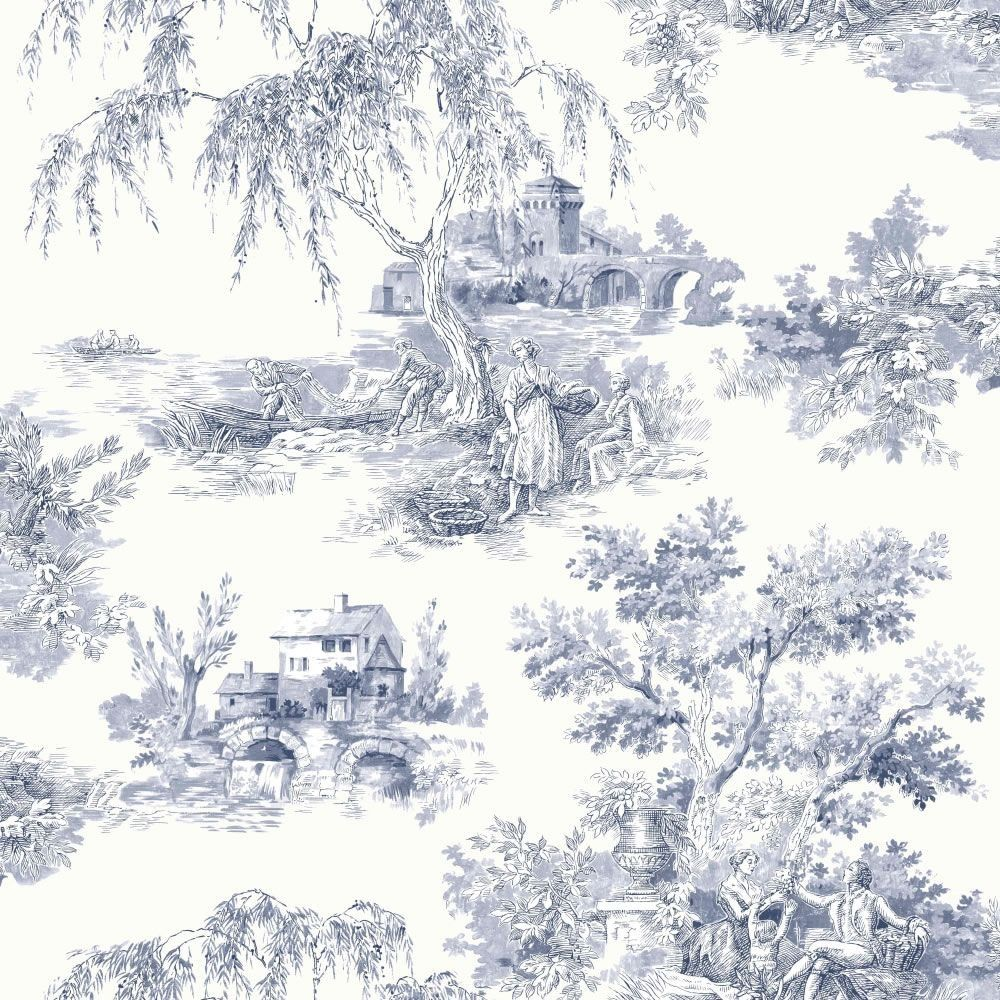 18th century french wall paper google search design pinterest toile wallpaper and toile. Black Bedroom Furniture Sets. Home Design Ideas