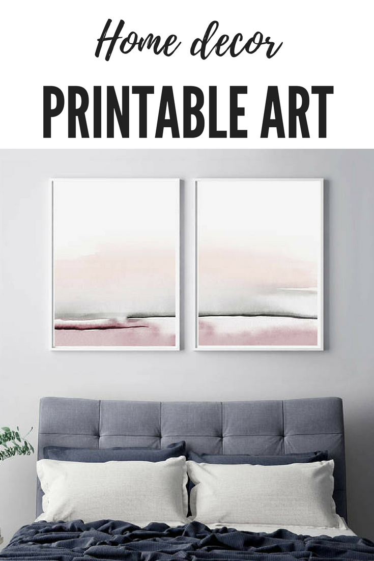 Home decoration printable wall art bedroom print set printable