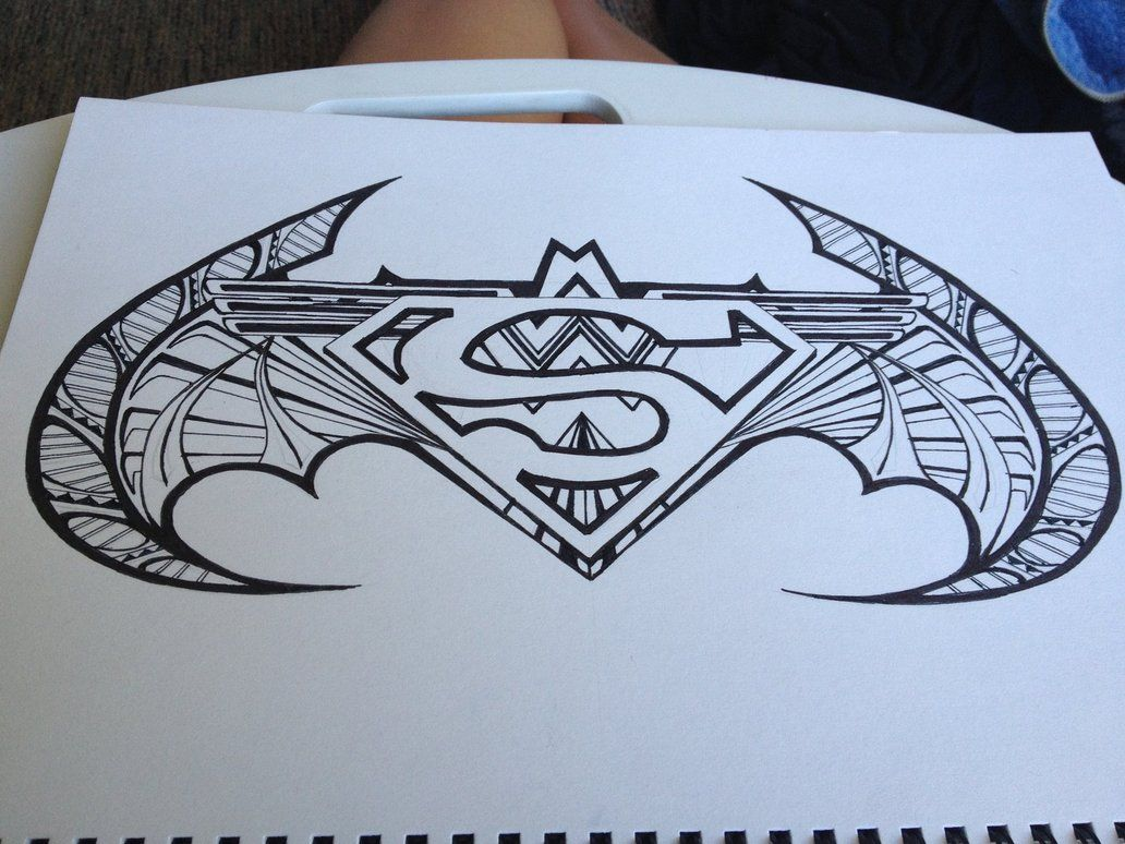 Cool Superman Batman Wonder Woman Symbol Design By Drawmega Batman Tattoo Superman Tattoos Batman Drawing