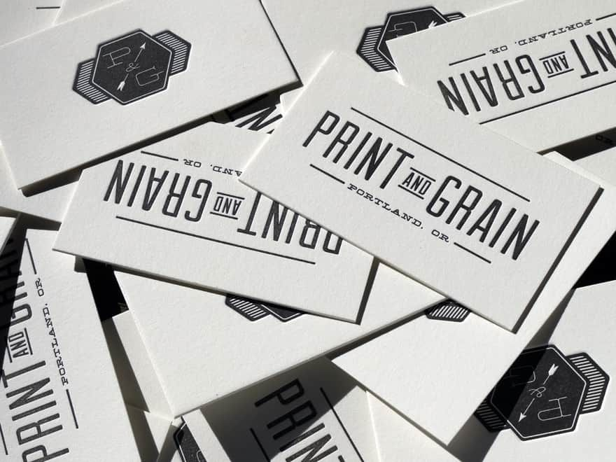 love the impression by Print and Grain. Letterpress printed on Reich ...