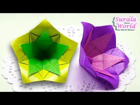 Double Flower Origami How To Make A Paper Flower Easy Youtube