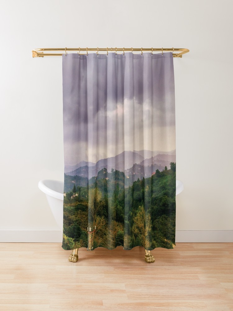 Amazing Village View Rain Shower Curtain By Bennemm Cool Shower Curtains Curtains Cool Things To Buy