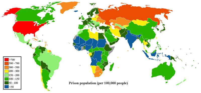 Prison populations around the world
