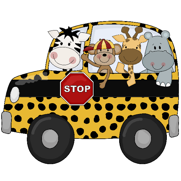 Cartoon Jungle Animals In School Bus Cartoon Jungle Animals Cartoon Animals Bus Cartoon