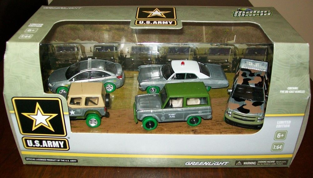 Greenlight SUPER CHASE Raw U.S. ARMY 5 Pack LIMITED